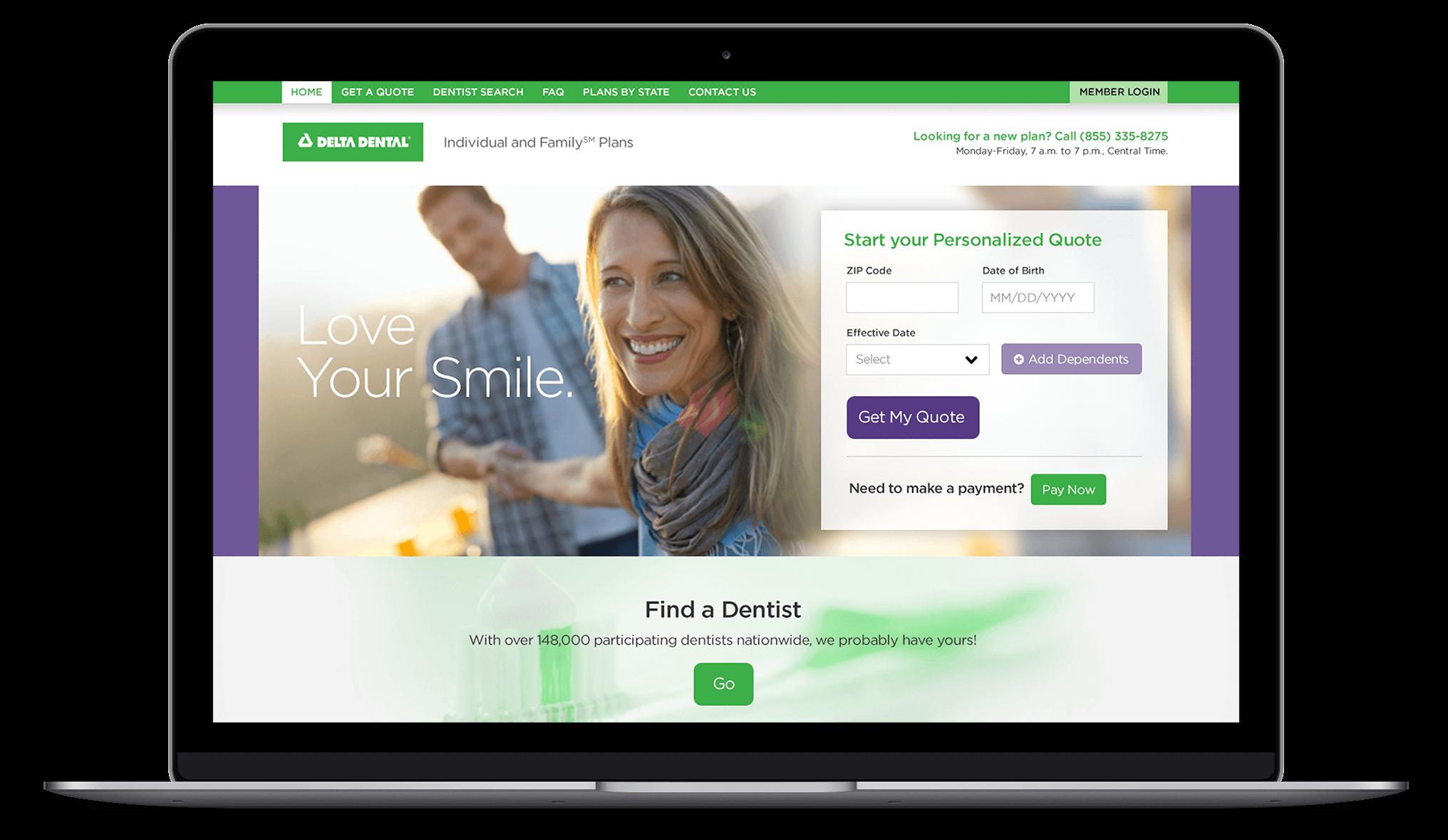Delta Dental Landing Page