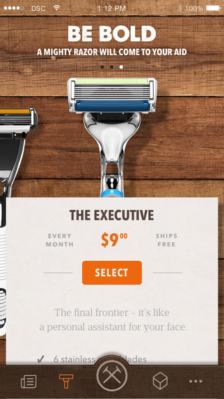 Dollar Shave Club's mobile app